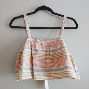 ☀️ 3/$15 Kaisely Stripe Crop Top Size M New